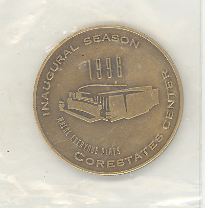 Philadelphia Flyers Inaugural Season Core States Center medallion