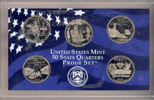 2003 S United States State Quarters Proof Set