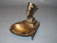 Queen Nefertiti brass ashtray