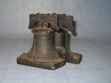 Cast iron Liberty Bell Bicentennial bookends