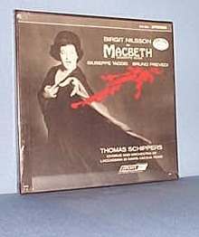 Birgit Nilsson in Verdi's Macbeth, 33 RPM