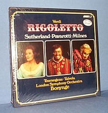 Verdi's Rigoletto, 33 RPM