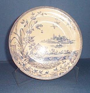 Mysore blue transferware Staffordshire plate