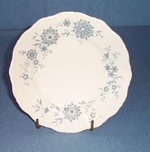 Christiana Porcelain Bavarian Blue bread plate
