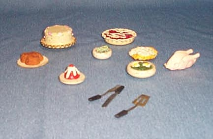 1950s doll house food