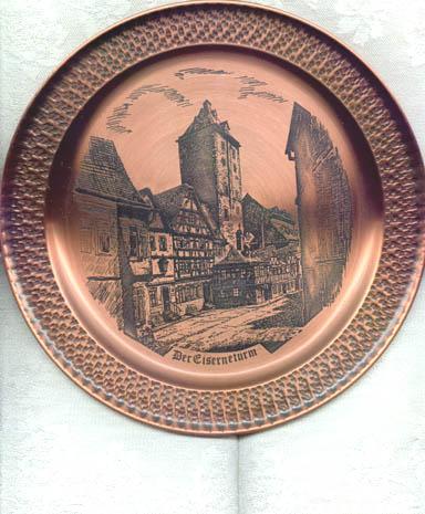 Mainzer Metallkunst Mainz, Der Eiserneturm copper plate