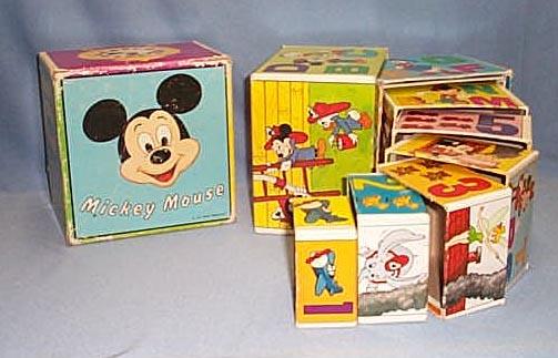 Walt Disney Productions Mickey Mouse nesting blocks