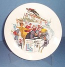 Official 1980 Olympic Winter Games Plate