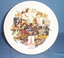 Official 1980 Olympic Summer Games Plate