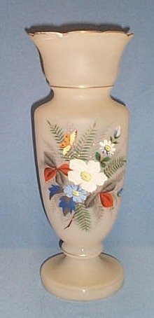 14 inch blown Bristol vase