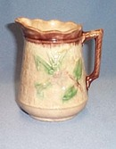 Decorated Majolica cream pitcher