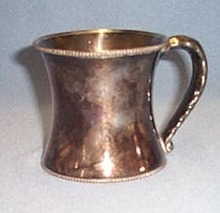 Quadruple silver plate child's cup