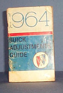 1964 Buick Adjustments Guide