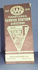 1937-1938 AAA Pennsylvania Service Station Directory, Lehigh Valley Motor Club