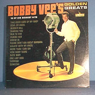 Bobby Vee's Golden Greats  33 RPM LP