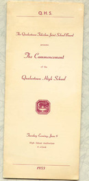 1953 Quakertown High School, Quakertown, PA commencement program