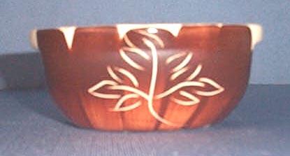 Purinton Brown Intaglio cereal bowl