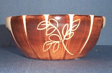 Purinton Brown Intaglio dessert bowl