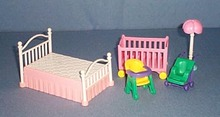 Doll house bed and baby furniture