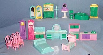 Doll house furniture assortment