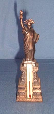Cast metal Statue of Liberty Thermometer