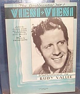 Vieni, Vieni Sheet Music by Rudy Vallee