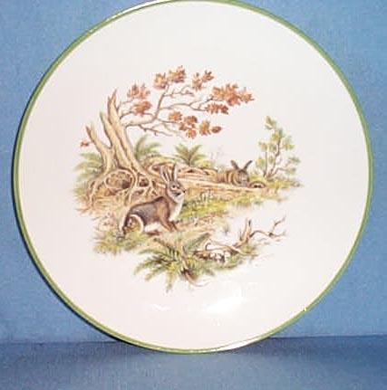 Bareuther Waldsassen Bavarian hares plate