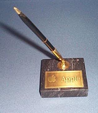 Apple Computer desk pen and holder set