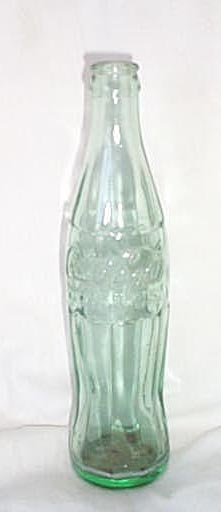 Coca-Cola embossed 10 ounce soda bottle