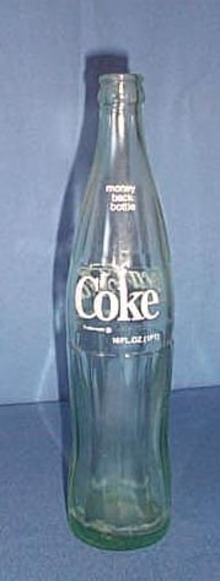 Coca-Cola pyro 16 ounce bottle, marked El Paso, Tex. on bottom