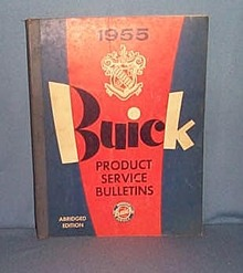 1955 Buick Product Service Bulletins, Abridged Edition