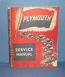 1936- 1942 Plymouth Service Manual