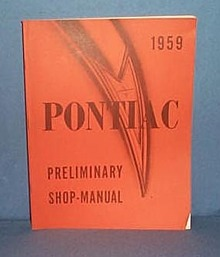 1959 Pontiac Preliminary Shop Manual