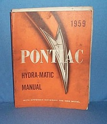 1959 Pontiac Hydra-Matic Manual, soiled