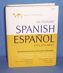 1966 Follett World-Wide Spanish Dictionary