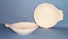 2 Shenango China white handled berry bowls