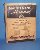 1941 General Motors Truck Maintenance Manual for 2 1/2 Ton 6 X 6