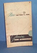 1952 Genuine Ford Accessories booklet