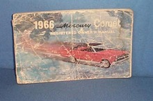 1966 Mercury Comet Registered Owner's Manual