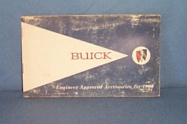 1965 Buick Engineer Approved Accessories booklet
