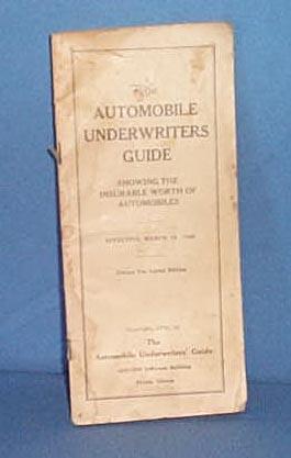 1928 Automobile Underwriters Guide
