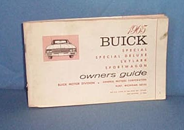 1965 Buick Owner's Guide