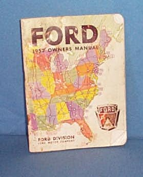 1952 Ford Owners Manual