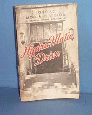 1947 Pontiac Hydra-Matic Drive manual