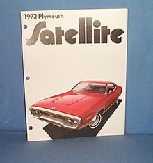 1972 Plymouth Satellite Advertising booklet