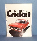 1972 Plymouth Cricket Advertising booklet