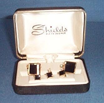 Shields Fifth Avenue cufflink and stud set