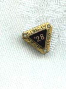 1928 Bethel Mennonite Brethren in Christ Sunday School pin, Allentown PA