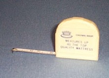 Crown Rest mattress measuring tape
