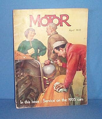 MOTOR, April, 1935 magazine